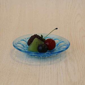 水月豆皿3個入【豆皿/ハンドメイド/庄内/ガラス食器/石塚硝子/アデリア】