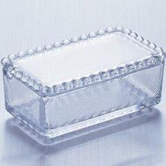 ファン急増中 おしゃれなガラスのバター入れ!ガラス製 バターケース