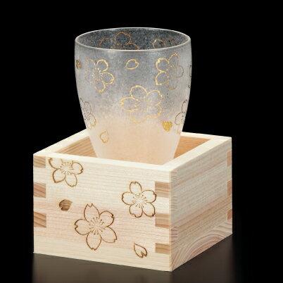 プレミアム桜枡酒グラス