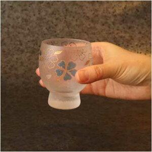 四季めぐり青桜酒グラス