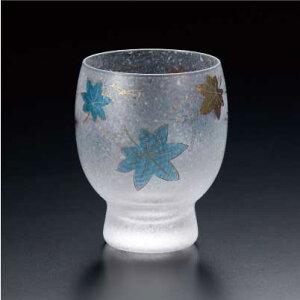 四季めぐり青紅葉酒グラス