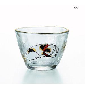 盃&豆皿セットミケ【グラス/ガラス食器/アデリア/石塚硝子】