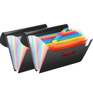 ドキュメントスタンド 2個セット 伸縮 蓋付き 持ち運び A4ファイルボックス 大容量 書類 収納 整理 分類 デスク周り 2-MEISYU
