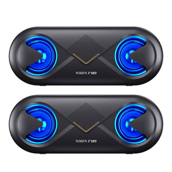 bluetooth無線スピーカー2台セットワイヤレス高音質重低音充電式大音量ブルートゥーススピーカーusbマイク搭載LED2-B