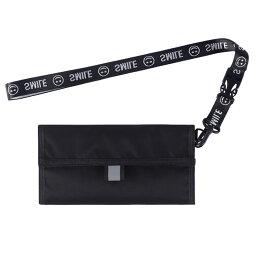 ぶら下げネックケース 3つ折り 小銭入れ パスポートバッグ 防水 スキミング防止 カードれ入れ ブラック BURANECK-BK