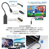 USBCtoHDMI変換アダプターTYPE-CHDMI変換ケープル4Kビデオ対応設定不要HDMI変換コネクタMacbookMICABALE