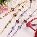ネックレスになる淡水パールめがねチェーンエレガントスワロフスキーネックレス眼鏡チェーングラスコードメガネチェーン