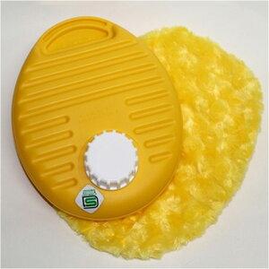 湯たんぽ ポリ湯たんぽプチ ふわふわカバーセット 0.9L イエロー カラフルゆたんぽ (TPK-1073W)