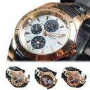 腕時計 メンズ メタルウォッチ ステンレス 保証書 日本製ムーブメント ガンメタ ピンクゴールド