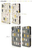 スマホケースiPhoneX用手帳型猫ケースポーチネコ柄猫レディース日本製生地ストラップ付着脱簡単カードポケットサイドポケット