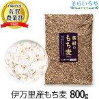 もち麦 国産 (佐賀県産) 「紫紺のもち麦」800g 送料無料 30年度産 無添加 希少な国産ダイシモチ100% 食物繊維たっぷり 腹持ちよくダイエットにも もち麦ごはん 麦飯 大麦