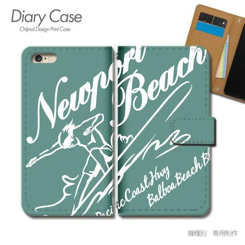 OPPO Reno3 5G 手帳型 ケース A001OP サーフィン ボード SURF 海 スマホ ケース 手帳型 スマホカバー e016904_04 オッポ おっぽ