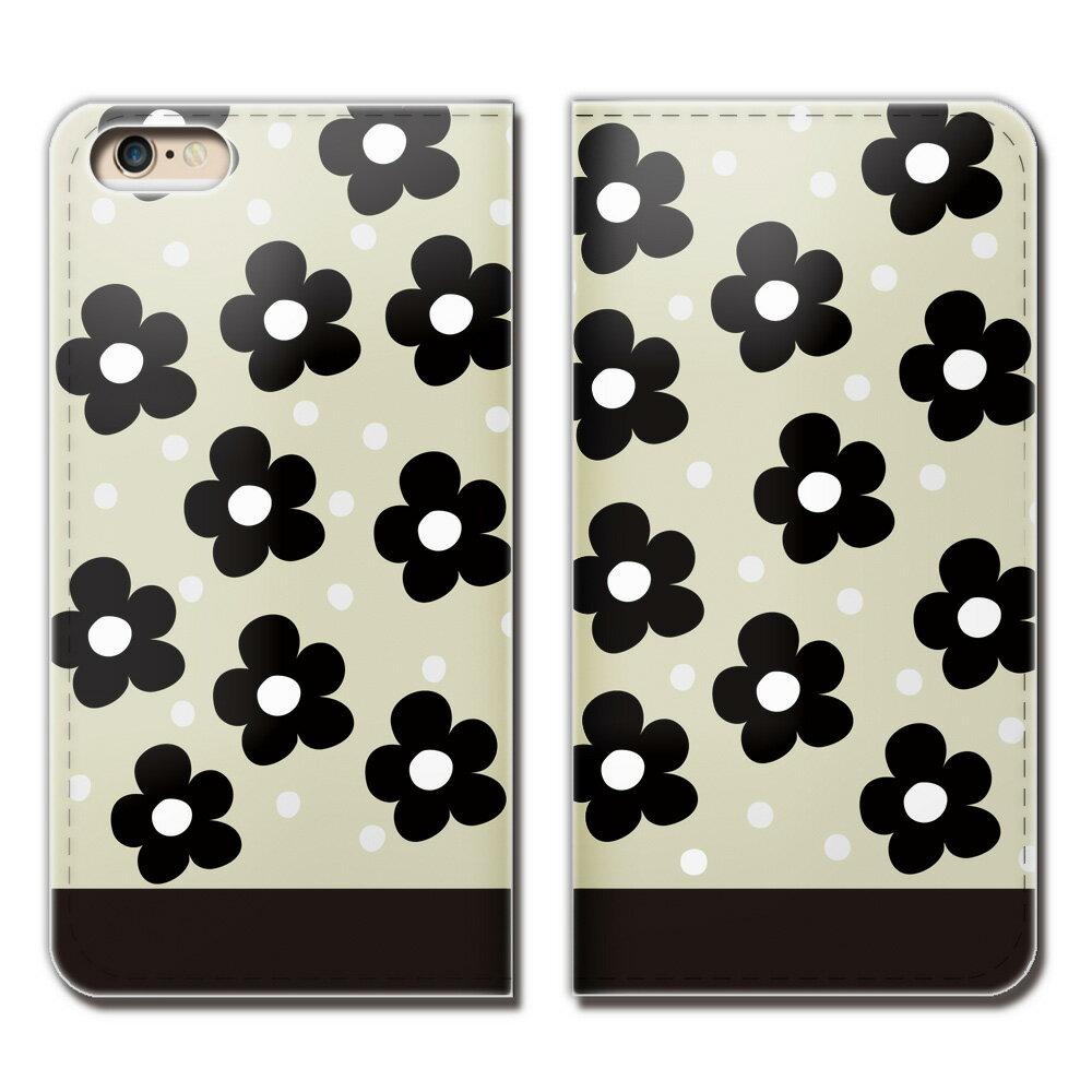 iPhone XR 6.1 iPhoneXR ケース 手帳型 ベルトなし フラワー ドット 女子力 スマホ カバー lady01 eb01204_02