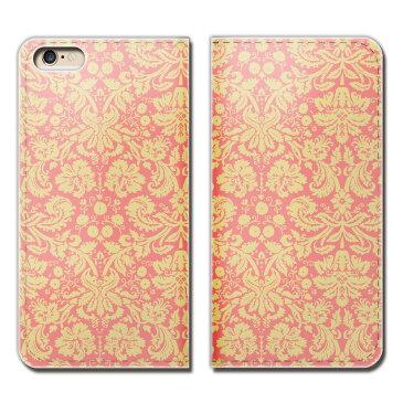 Galaxy S6 edge 404SC ケース 手帳型 ベルトなし ローズ 織物 絹 シルク ダマスク スマホ カバー ダマスク01 eb01401_01