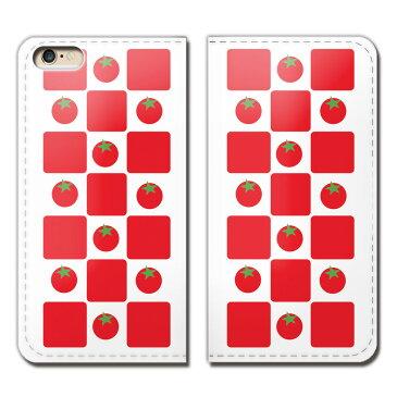 Disney Mobile SH-02G ケース 手帳型 ベルトなし TOMATO トマト 野菜 とまと スマホ カバー トマト01 eb02701_05
