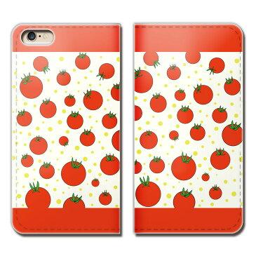 Xperia 1 802SO スマホ ケース 手帳型 ベルトなし TOMATO トマト 野菜 とまと スマホ カバー トマト01 eb02703_03