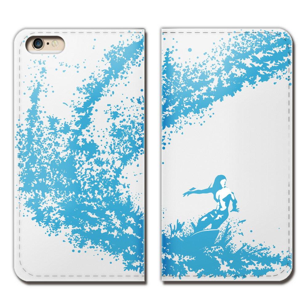 iPhone6s (4.7) iPhone6s ケース 手帳型 ベルトなし サーフィン ボード SURF 海 スマホ カバー サーフ01 eb16903_02