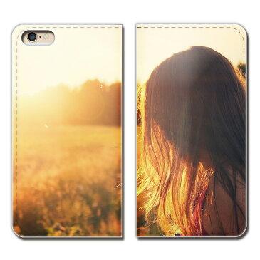 AQUOS PHONE ZETA SH-01F ケース 手帳型 ベルトなし PHOTO 女性 草原 モデル スマホ カバー ポスター01 eb17604_01