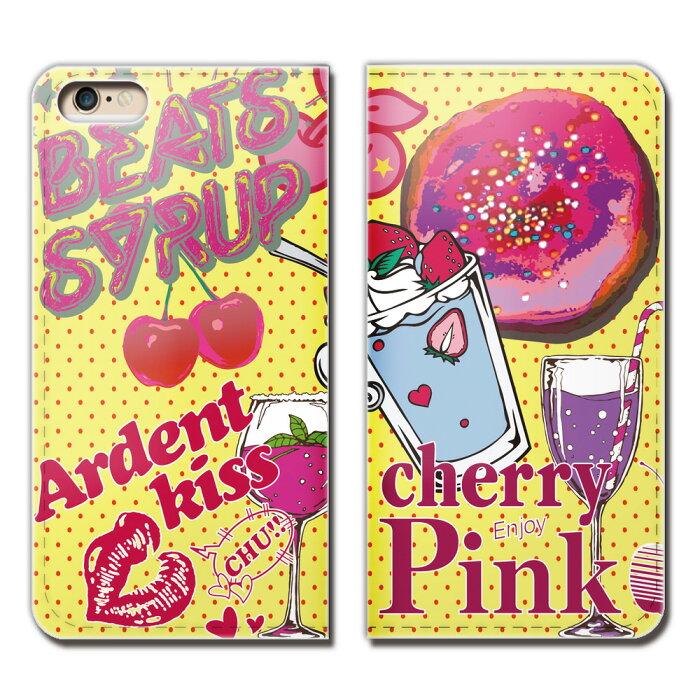 iPhone6 Plus(5.5) iPhone6Plus ケース 手帳型 ベルトなし ガールズ スイーツ Cherry パフェ スマホ カバー girls01 eb18202_04