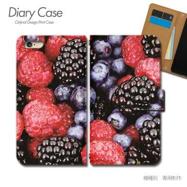 Tiara GALAXY Note Edge スマホケース SCL24 カラフル01 手帳型 [d000401_02] フルーツ 果物 ブルーベリー