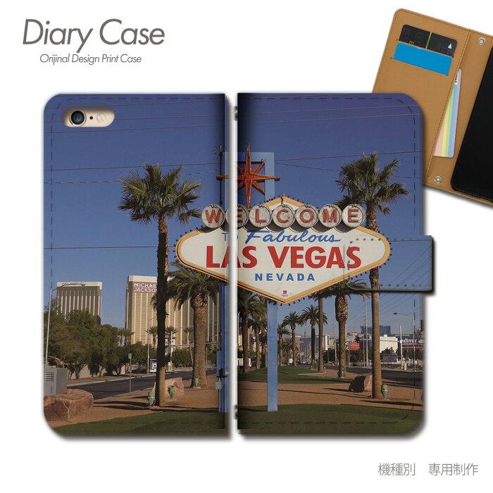 iPhone XR 6.1 手帳型ケース iPhoneXR アメリカ ラスベガス 観光 旅行 看板 スマホケース 手帳型 スマホカバー e027203_01 各社共通 アイフォン あいふぉん