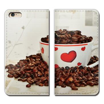 AQUOS mini SH-M03 ケース 手帳型 ベルトなし コーヒー カフェ おいしい 豆 カップ ハート スマホ カバー coffee01 eb25604_02