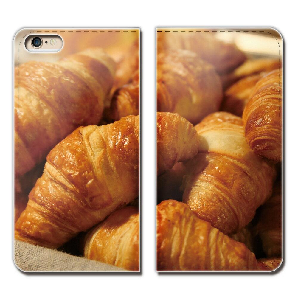 iPhone XR 6.1 iPhoneXR ケース 手帳型 ベルトなし 食べ物 フード クロワッサン パン スマホ カバー food01 eb25904_03