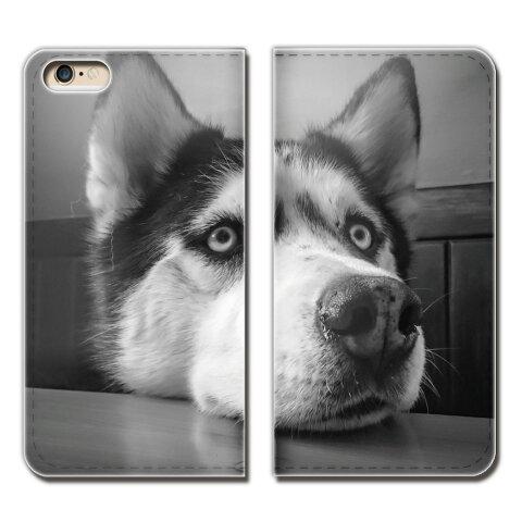 HTC U11 601HT ケース 手帳型 ベルトなし 犬 いぬ イヌ ペット ハスキー スマホ カバー 犬02 eb26602_02