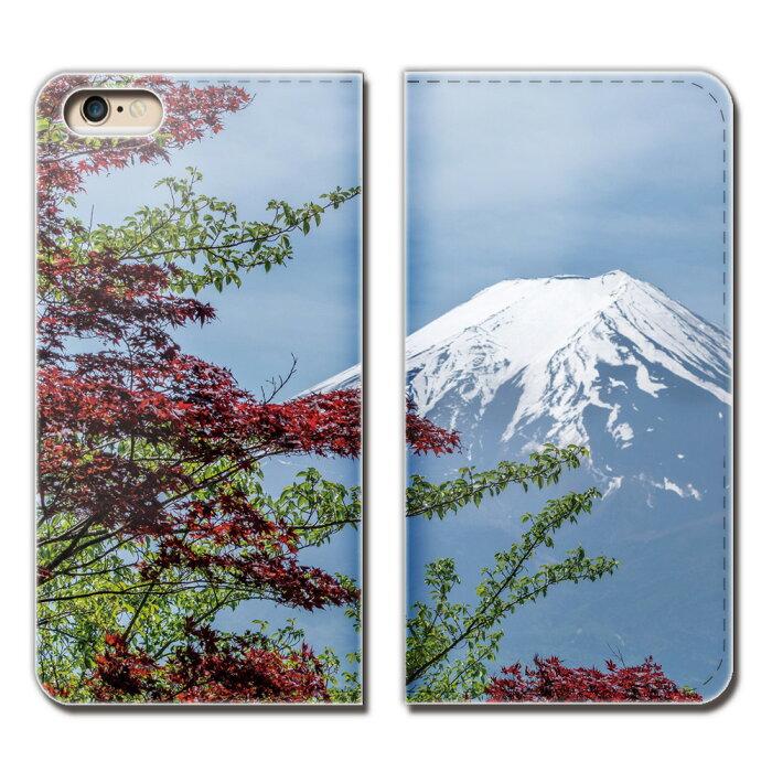AQUOS R SHV39 ケース 手帳型 ベルトなし 富士山 日本 観光名所 朝日 景色 スマホ カバー 日本文化 eb28102_02