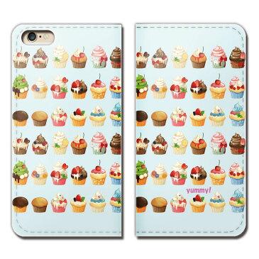 iPhone8 Plus 5.5 iPhone8Plus ケース 手帳型 ベルトなし カップケーキ スイーツ お菓子 スマホ カバー 食べ物 フード eb25802_05