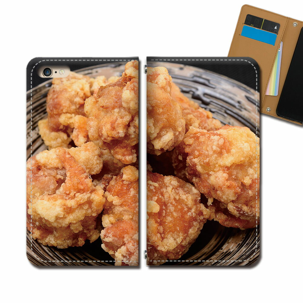 Galaxy A30 UQ mobile SCV43U スマホ ケース 手帳型 ベルトなし 唐揚げ からあげ 居酒屋 弁当 グルメ スマホ カバー 食べ物 eb33302_04