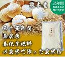 有機栽培の国産玄米粉500g 35年以上無農薬・化学肥料不使用 熊本県産 2