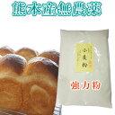 【熊本県】小麦粉(強力粉)熊本県産無農薬・化学肥料不使用500グラム