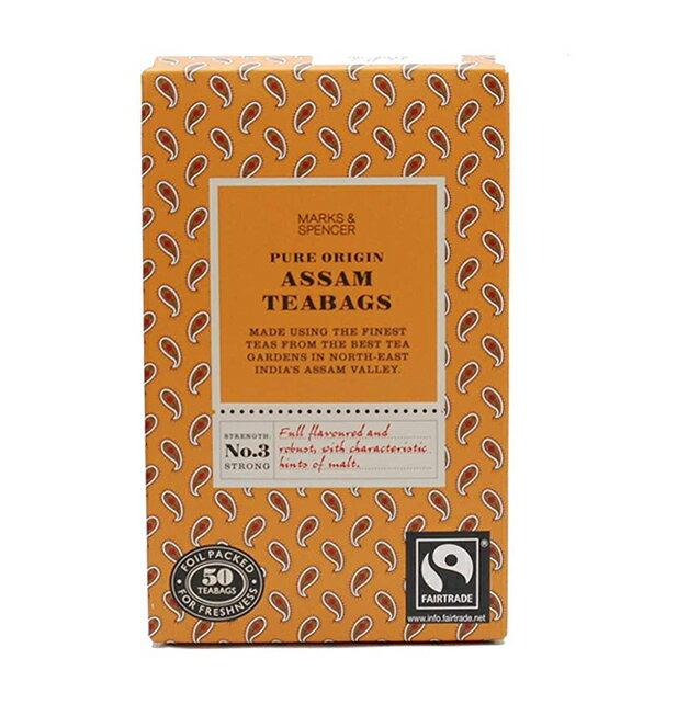 茶葉・ティーバッグ, 紅茶  MARKS SPENCER PURE ORIGIN ASSAM 50bags 50 125G