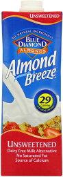 Blue Diamond Almond Milk Unsweetened 1000 ML ブルーダイヤモンドアーモンドミルク無糖1000ml