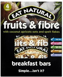 Eat Natural Fruit & Fibre Coconut Breakfast Bar 4 x 40g 天然フルーツ&繊維ココナッツ 朝食バー [並行輸入品]