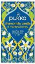 カモミール バニラ マヌカハニー 20ティーバッグ Pukka Chamomile, Vanilla & Manuka Honey Teabags 20 per pack