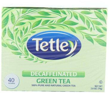 テトリー グリーンティー ノンカフェイン 緑茶 40ティーバッグ x 6箱まとめ買い Tetley Naturally Decaffeinated Green Tea, 40-Count Tea Bags (Pack of 6)
