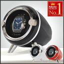 腕時計 ワインディングマシーン カーボン レザー 1年保証 4本巻 送料無料 ワインディングマシン カーボン レザー ブラック 黒 鍵 鍵付き マブチ 静音 マブチモーター 2本 4本