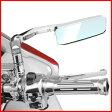 送料無料 スクエア バイクミラー 左右セット [ JR145 ] アメリカン タイプ 汎用 クロームメッキミラー バイク用 スクーター ミラー 鏡 サイドミラー