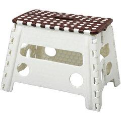 ワンタッチ折り畳みで持ち運び便利な持ち手付の踏み台屋内だけではなく洗車やアウトドアでも活...