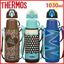 サーモスTHERMOS真空断熱2ウェイボトル1000ml/1030ml[FFR-1004WF]ケースカバー付きフラワーブラウンドットブルーイナズマブルー真空断熱ケータイマグ水筒魔法瓶保温保冷2WAY