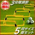 送料無料 ハードル トレーニング ミニハードル 3段 5個セット 収納袋付き 高さ調節可能 サッカー 陸上 バレー バスケ マラソン リレー ランニング フォーム ウォーミングアップ スピードアップ 俊敏性 反射神経