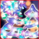 LEDウィンドウモチーフライト[LOBI]ツリートナカイスノーフレークパステルミックスイルミツリークリスマスツリーの飾りつけに!クリスマスモチーフライトイルミネーションオーナメントLOBITRPALOBITPALOBISFPA