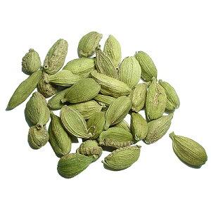 カルダモンは消化を促すので食べ過ぎた時などに。カルダモン お試し 20gカルダモンホール:種子...