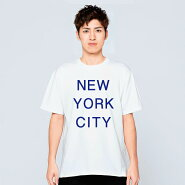 NYCTシャツメンズレディース半袖服ゆったりおしゃれトップス白夏ペアルックプレゼント大きいサイズ綿100%160SMLXL