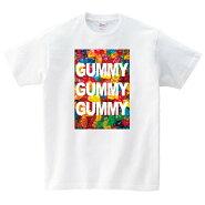 グミTシャツメンズレディース半袖服ゆったりおしゃれトップス白夏ペアルックプレゼント大きいサイズ綿100%160SMLXL