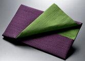 ふくさ袱紗香典袋慶弔両用金封リバーシブル男女兼用紬古代紫×緑化粧箱入
