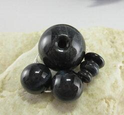 【10%クーポン配布中】数珠パーツ親玉Tホール青虎眼石20ミリボサ天玉セット手作り用