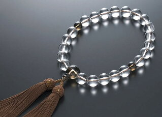 【10%割引クーポン配布中】数珠道具セット茶水晶《スモーキークォーツ》16ミリ